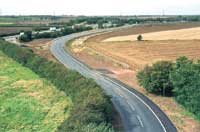 Completed link road near Foston