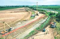 Construction of link road and Ease Drain culvert