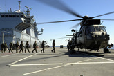 Sea king Embarking Troops