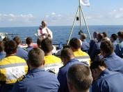 Church Service onboard HMSOcean