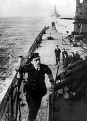 Admiral Jellicoe on board his flagship HMS Iron Duke. Photogarph courtesy of the Imperial War Museum, London