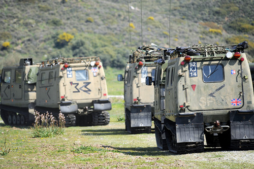 Convoy of BV's moving forward to tactical area of operations