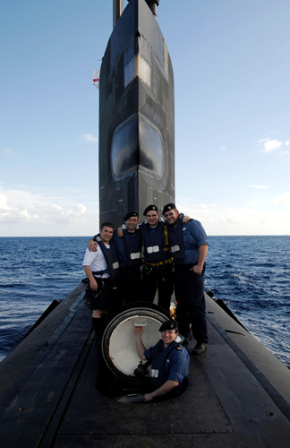 Casing Party of HMS Talent, off the coast of Cyprus