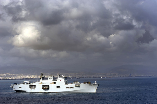 HMS Ocean on major amphibious exercise in Cyprus