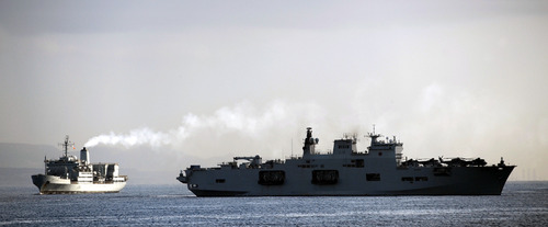 RFA Fort Austin and HMS Ocean