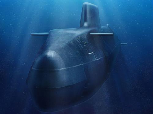 Artist's impression of Astute Class submarine underwater