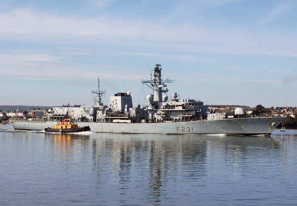 HMS Argyll Returns to Portsmouth