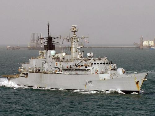 HMS Cornwall in the North Arabian Gulf