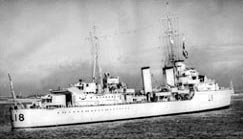 Tribal class destroyer, HMS Zulu which took part in the sinking of the Bismark
