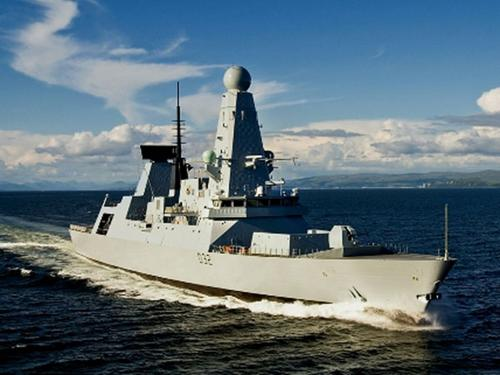 HMS Daring undergoing initial contractor sea trials[Picture courtesy of BAE Systems]