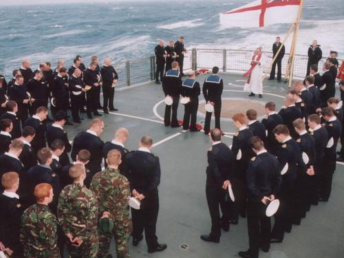 Remembrance for 9th HMS Gloucester in the Mediterranean off Crete