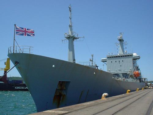 HMS Scott alongside in Durban