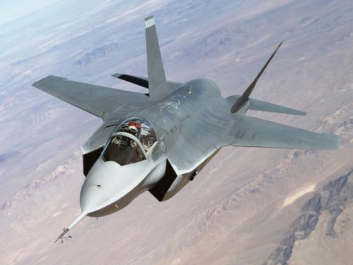 Lockheed Martin X-35 (Future Joint Combat Aircraft) during a test flight