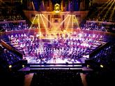The Royal Marine Band Service performing live at the Royal Albert Hall, London, on the 15th February 2003