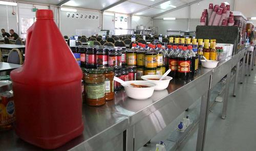 The condiments counter
