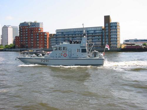HMS Puncher in the Thames