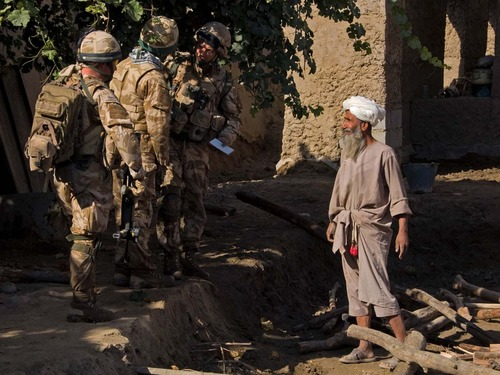 45 Commando Royal Marines at Sangin, Helmand Province in Afghanistan