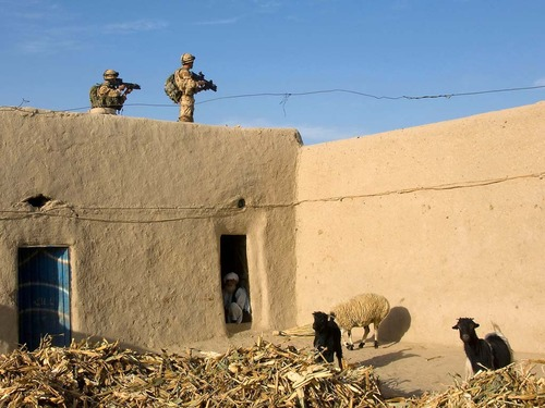 45 Commando Royal Marines whilst on patrol to the North of Sangin DC in Helmand province.