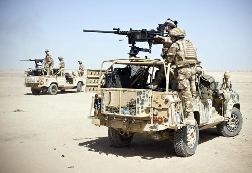 Fire Support Group as they fire the 50 Cal Machine Gun from the weapons mount instulation kit otherwise know as wmik