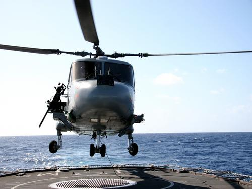 The Lynx takes off, ready for M3M firings