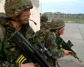 Marines conducting a raid as part of Exercise Cyprus Wader
