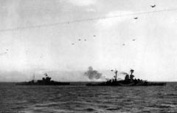 Warspite & Ramillies bombard off Sword Beach, 6 Jun