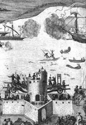 The sinking of the Mary Rose (Royal Naval Museum)