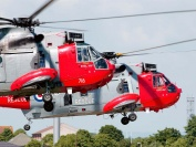 Sea King Mk5's hover in formation