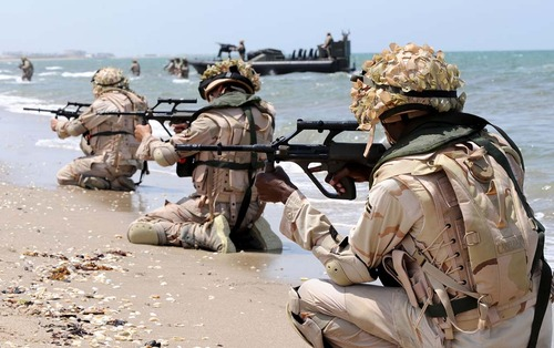 Saudi Marines beach assault