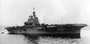 HMS Illustrious shortly after completion, July 1940