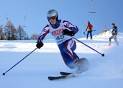 Maj Mark Perrin RM at the Ski Champs 2009