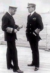 Admiral Beatty with King George V on board HMS Queen Elizabeth in 1917. Photograph courtesy of the Imperial War Museum London