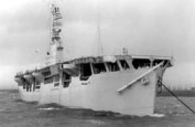 MV Empire Maccall, an aircraft carrier converted from a merchant ship, November 1943