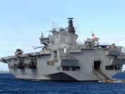 HMS Ocean at anchor off Tortola, British Virgin Islands