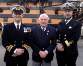 Indefatigable Veterans Visit HMS Victory In Fleet Air Arm's Centenary Year