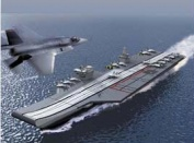 Artist impression of Joint Strike Fighter and Future Carrier