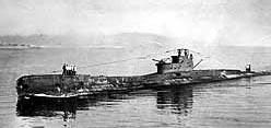 WWII Submarine HMS Truant.
