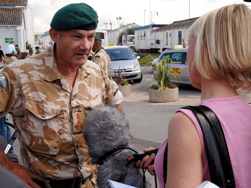 Brigadier Gordon Messenger, returned from Afghanistan this afternoon with 121 of his personnel to a hero's welcome at Exeter Airport.