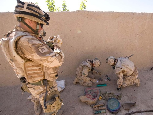 Royal Marines on patrol in Helmand province.