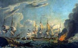 Aftermath of the Battle of the Nile on 2 August 1798