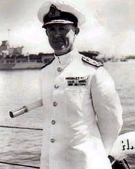 Admiral Cunningham Commander-in-Chief of the Mediterranean Fleet, August 1940. Photograph courtesy of the Imperial War Museum, London