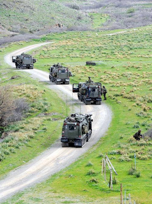 40 Commando Royal Marines on Patrol as part of TAURUS