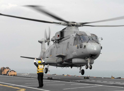 Merlin sets off from HMS Ocean