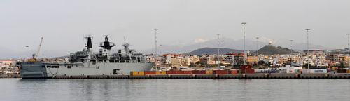 HMS Bulwark at Heraklion