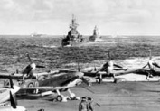Seafires on the flight deck of HMS Victorious, part of the covering force for the 'Torch' Landings