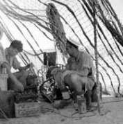 Royal Navy Signallers supplementing Army Communications in the Western Desert