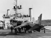RN Sea Harrier on the Filght Deck of HMS Fearless