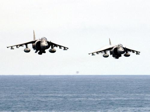 Harrier's flypast carrier
