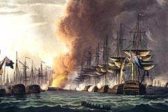 Destruction of the Danish Fleet at the Battle of Copenhagen