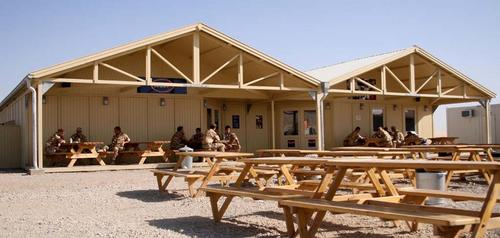 Outside rec space area looking at the EFI (NAAFI) and Coffee Shop